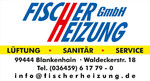 Schild Fischer Heizung